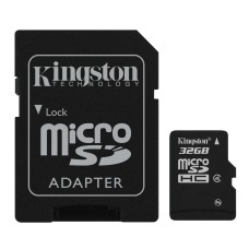MICRO SD CARTE + ADAPTER 32 GO KINGSTONE